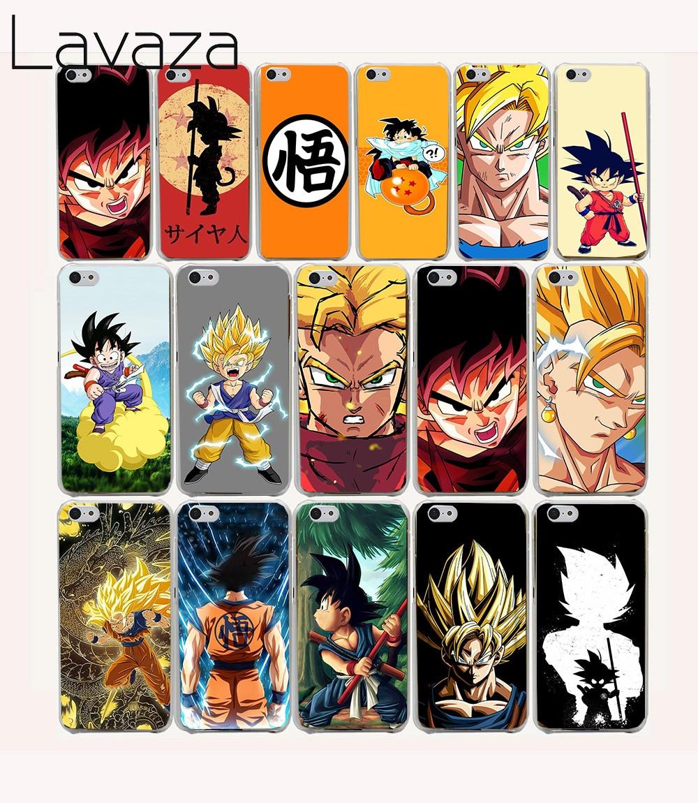 Lavaza 25O Гоку Приключения Dragon Ball Z жесткий coque чехол для iPhone 5C fundas крышка 5 5S 4 4S 7 плюс
