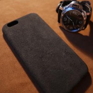 Image 5 - 케이스 아이폰 7 8 플러스 x xs 맥스 xr 럭셔리 이탈리아 스웨이드 패브릭 커버처럼 downy leather capa 프리미엄 쉘 쉘