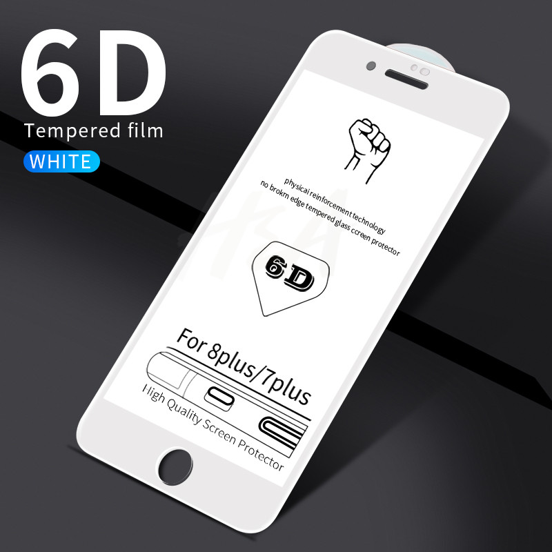 Image 5 - H&A 6D Full Cover Curved Tempered Glass For iPhone 7 8 6 6s Plus Screen Protector Film For iPhone 8 6 7 Plus Protective Glass-in Phone Screen Protectors from Cellphones & Telecommunications
