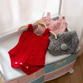 2017 Novo Estilo Macacão de Bebê Do Coelho Do Bebê Roupas Das Meninas Do Bebê de Malha Roupas Para Bebês Recém-nascidos Romper Macacões Bebes Ropa Roupa Do Bebé