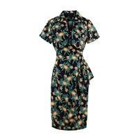 Sisjuly New Vintage Dress 1950s 60s Summer Knee Length Women Black Elegant 2017 Turn Down Collar