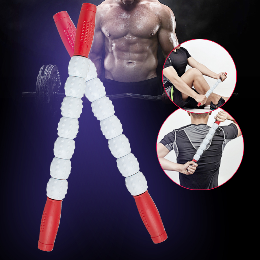 High Quality Sports Gym Massager Roller Stick Trigger Point Muscle Body Massage Relax Tool Free Shipping gym crossfit fitness massage lacrosse ball therapy trigger full body exercise sports yoga balls relax relieve fatigue tools