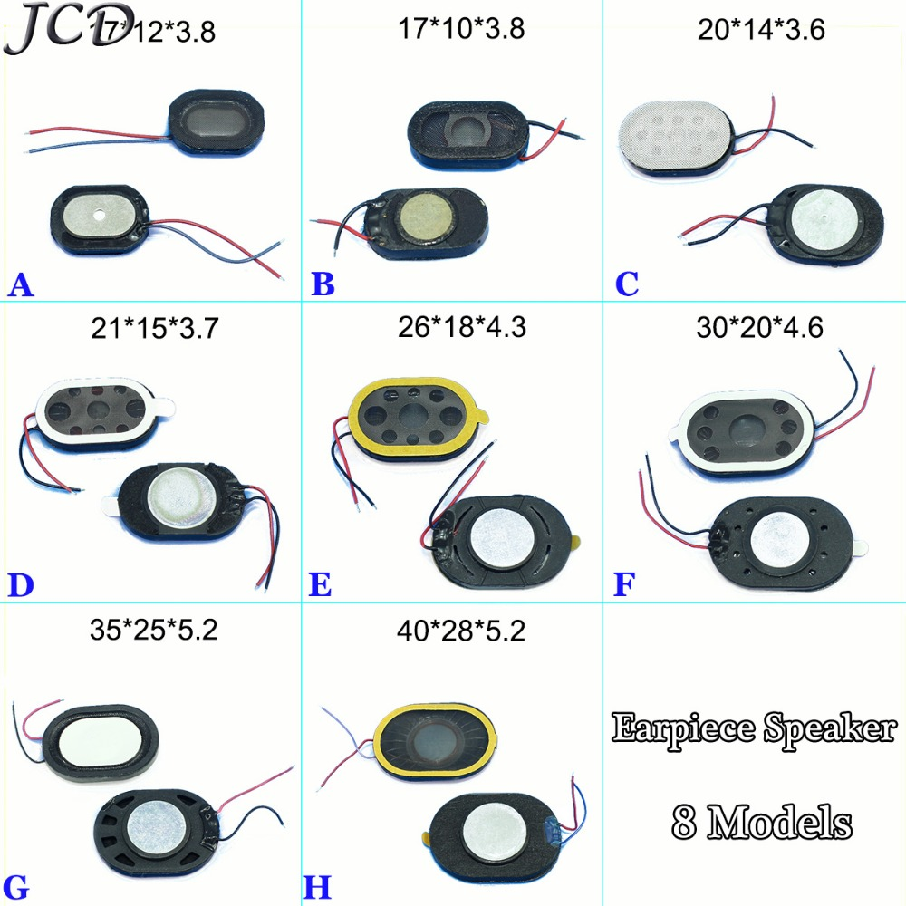JCD Round Loud Speaker Buzzer Ringer Earpiece Speaker With Flex Cable Repair Part For Phone Etc 18*10*3.8/24*15*3.7mm