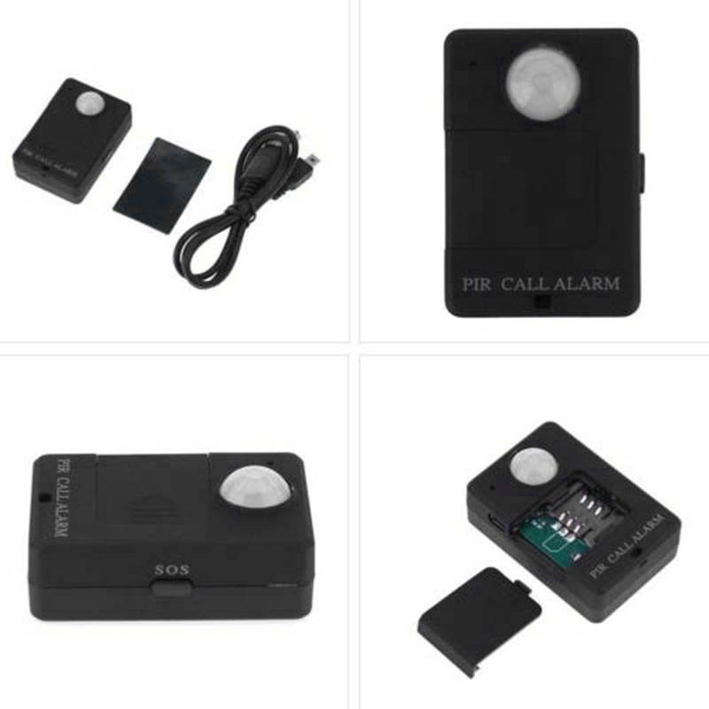 1xMini Wireless Motion GSM Alert Detection Monitor Infrared Sensor PIR MP Alarm A9