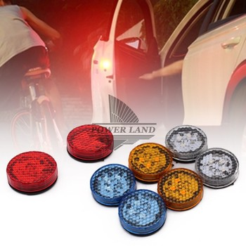 Car Door Wireless Led Warning Lights Opening Flashing Strobe Light Battery Power Red/Blue/Yellow/Changeable Colors Universal Fit image