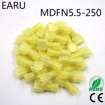 Connecteur de fil de broche isolé mâle | Laiton 100 pièces/paquet, prise MDFN 12-10AWG