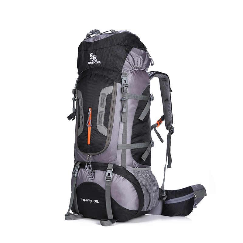 d1ec2638c2eb 80L Large Capacity Outdoor backpack Camping Travel Bag Professional Hiking  Backpack Rucksacks sports bag Climbing package 1.45kg