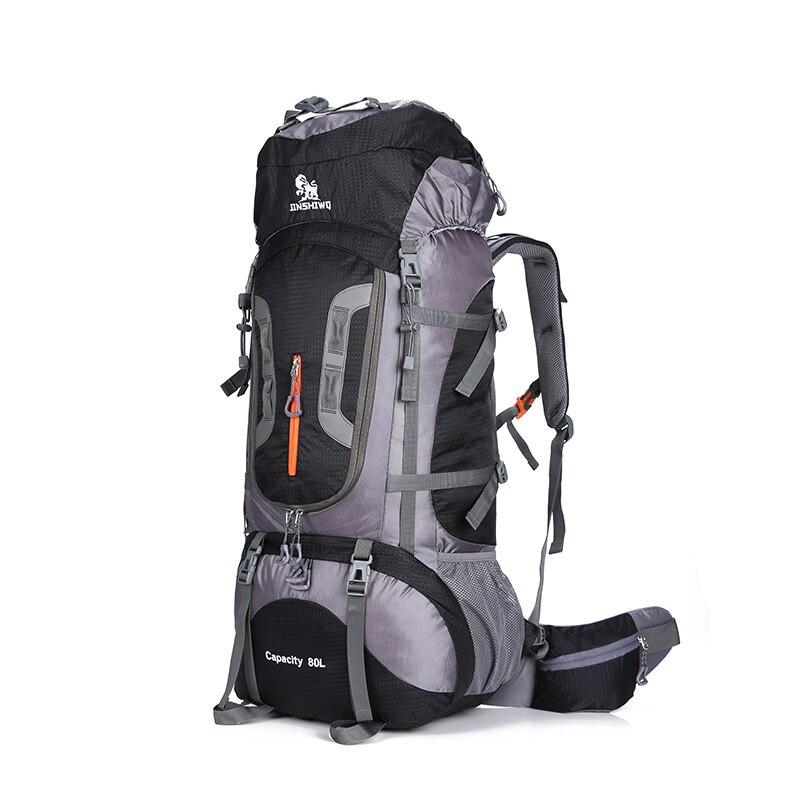 80L de gran capacidad al aire libre mochila Camping bolsa de viaje de senderismo profesional mochila mochilas bolsa de deporte escalada Paquete de 1,45 kg