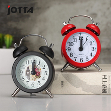 Creative metal material small alarm clock rural fresh desktop mini activities holiday gift