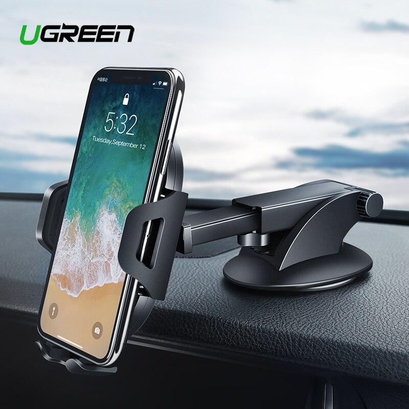 Ugreen sostenedor del teléfono del coche para iPhone XS Samsung S9 más ventosa soporte para teléfono en coche 360 rotación móvil soporte de teléfono