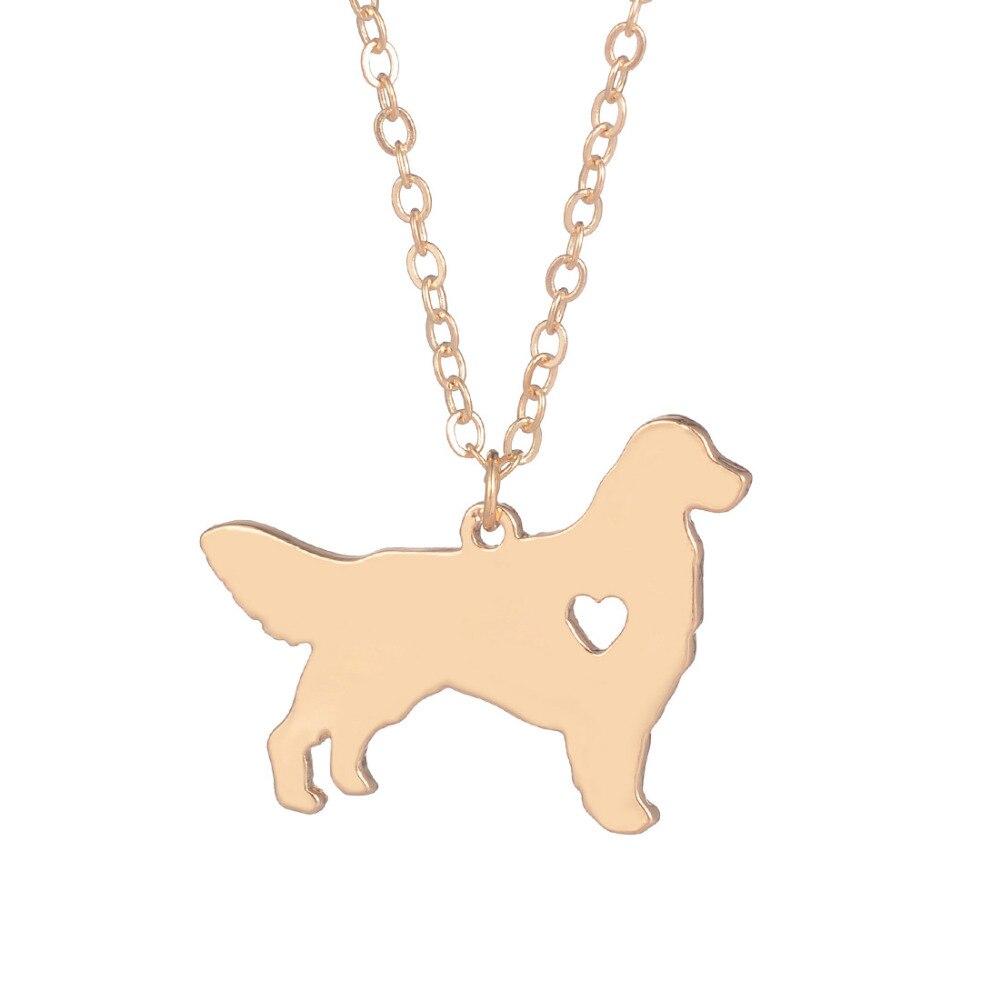 Wholesale 30pcs Golden Retriever Necklace Dog Pendant Dog Breed