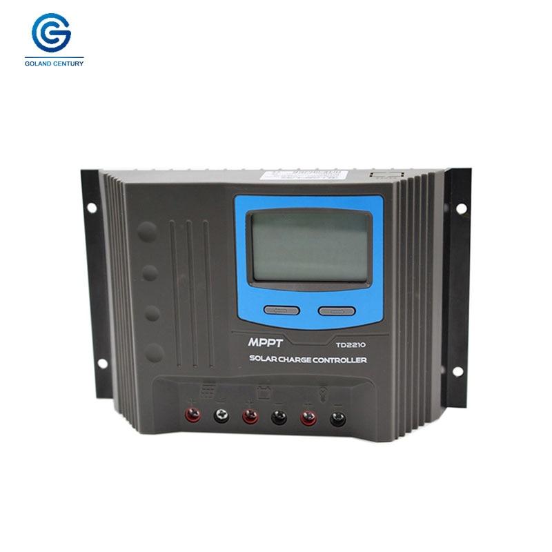 Goland Century Smart Home Controller TD2210 20A 12V 24V AUTO Work MPPT Solar Charge Controller 12V 24V With USB Port