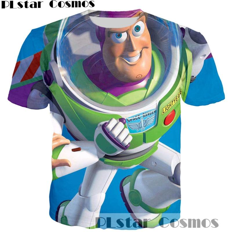 PLstar Cosmos 2017 new T-shirt Classic cartoon Toy Story character Buzz Lightyear/Woody 3d t shirt women/men Harajuku casual tee