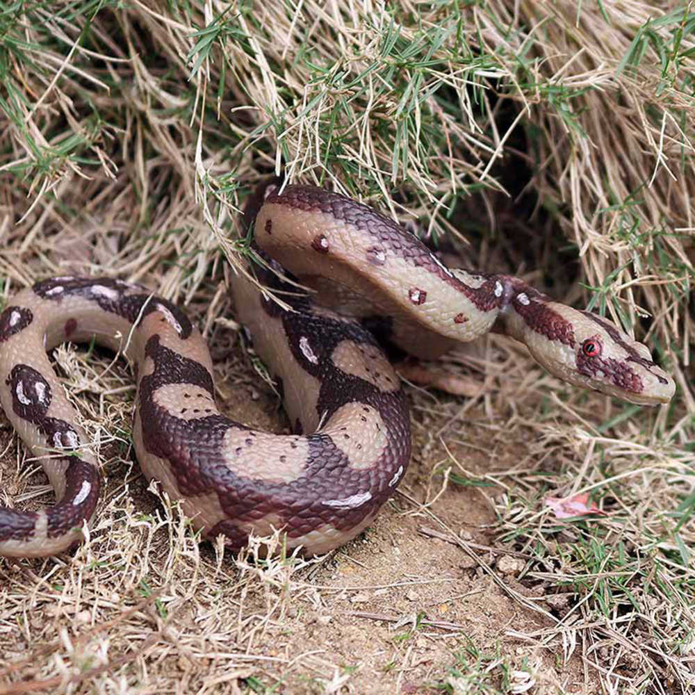 Nep Open Mond Snake Speelgoed Scary Grote Python Speelgoed Halloween Tuin Props Tuin Props Joke Prank Grappen Speelgoed