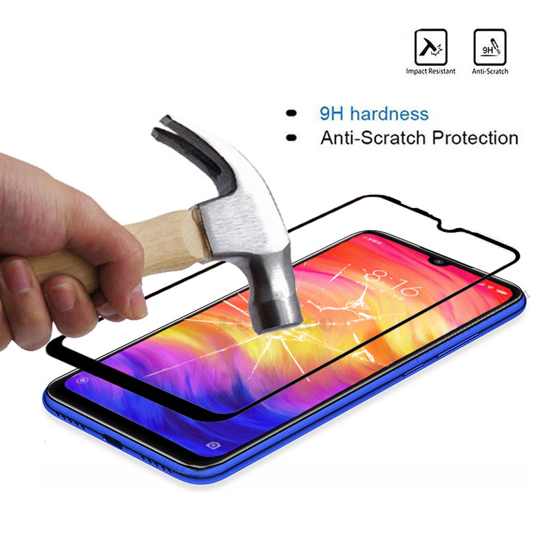 Image 5 - 2 Pcs/ lot Full coverage Tempered Glass For screen protector Xiaomi xiomi Redmi note 7 For Xiaomi redmi note7 protective Film 9h-in Phone Screen Protectors from Cellphones & Telecommunications