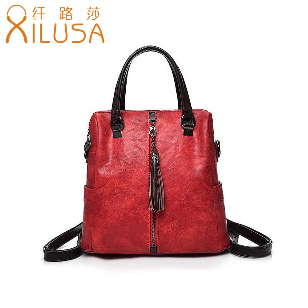 Xilusa Fashion Women Black Business Handbag Vintage Tassel Shoulder ... 97ba19aedb8eb
