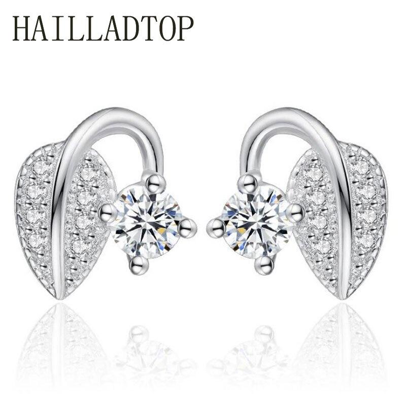 Women s Stud Earrings font b Jewelry b font Special Design Sweet Leaves Bud Earrings font
