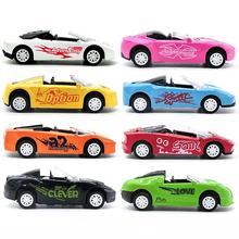 Gyermekek Fiúk Játékok Autók Műanyag Járművek Modell Pull Back Autós játékok Alloy Convertible autó Kid Boys Girls Xmas Ajándékok