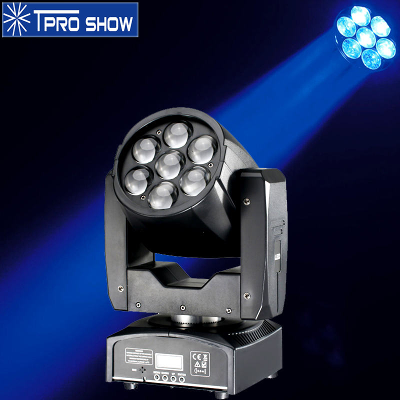 Pocket Moving Head LED 7x15W Zoom Wash Effect Lyre Beam Mini Movinghead Dmx512 Music Auto Control for Night Club Lights Party DJ
