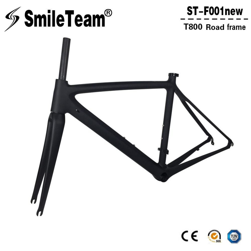 New Arrivals Full Carbon Fiber Road Bike Frame High Quality UD Weave Carbon Bike Frame Racing Bicycle Frameset Size 50/53cm 53cm 55cm 58cm fixed gear bike frame matte black bike frame fixie bicycle frame aluminum alloy frame with carbon fork