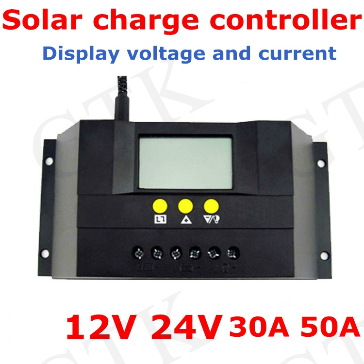 Chargers Consumer Electronics Solar Charge Controller 12v 24v 30a 50a Automatic Photovoltaic Solar Panel Battery Street Light Lcd Screen Display Pwm Charging