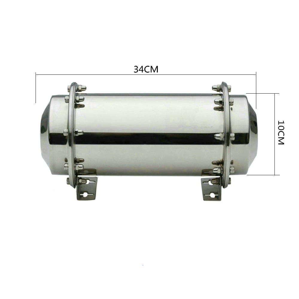 "13.4"" Stainless Steel Time Capsule Waterproof Container Storage Future Gift Buri Free Shipping"
