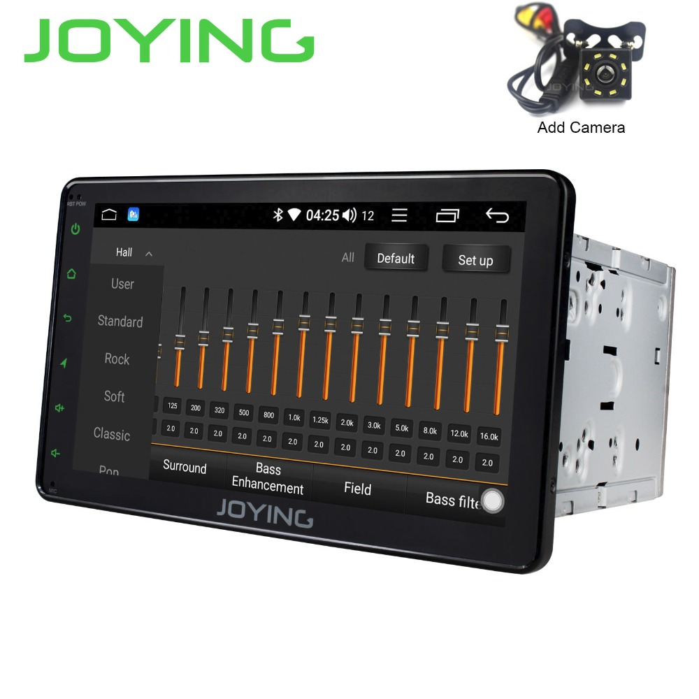 JOYING 2 din Android 8.1 car radio player GPS Navigation audio stereo autoradio Octa Core DSP with free camera 8 inch HD Screen