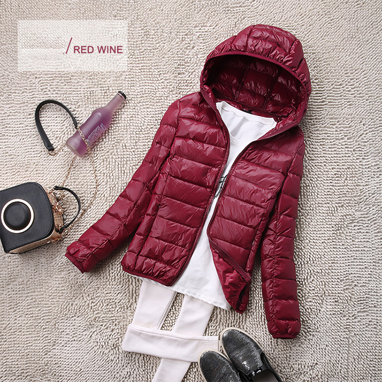 SEDUTMO Winter Plus Size 4XL Womens Down Jackets Short Ultra Light Duck Down Coat Hooded Puffer Jacket Autumn Parkas ED034 13
