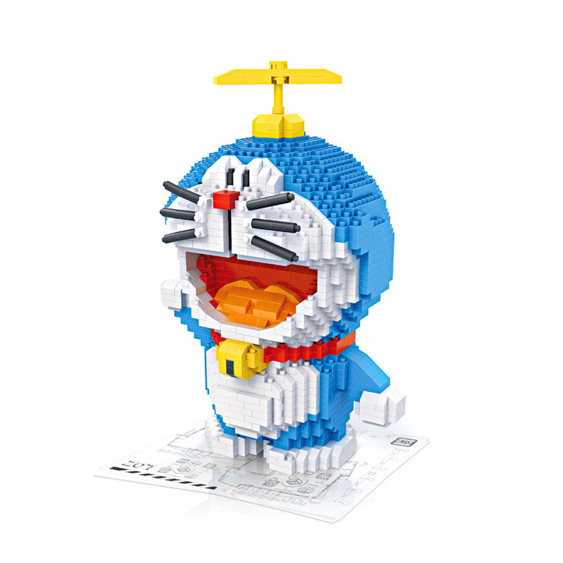 LOZ Doraemon Building Blocks Japanese Anime Action Figure Educational Kids Birthday Gift Toys brinquedos juguetes menino сумка для коляски moon messenger bag sport 992