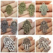 Evil Eye Jewelry Mix Hamsa Hand Charm For Making Diy Craft Supplies Keychain Accessories Handmade Gift
