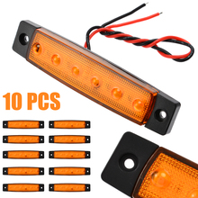 10pcs 12V 6LED Auto Car Bus Truck Wagons Side Marker Indicator Trailer Light Rear Lamp  External