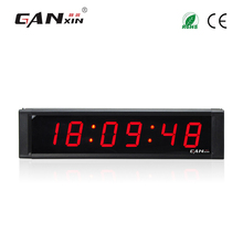 [Ganxin] 1 inch modern desk clock led countdown timer red digital alarm clock 12/24H display цена