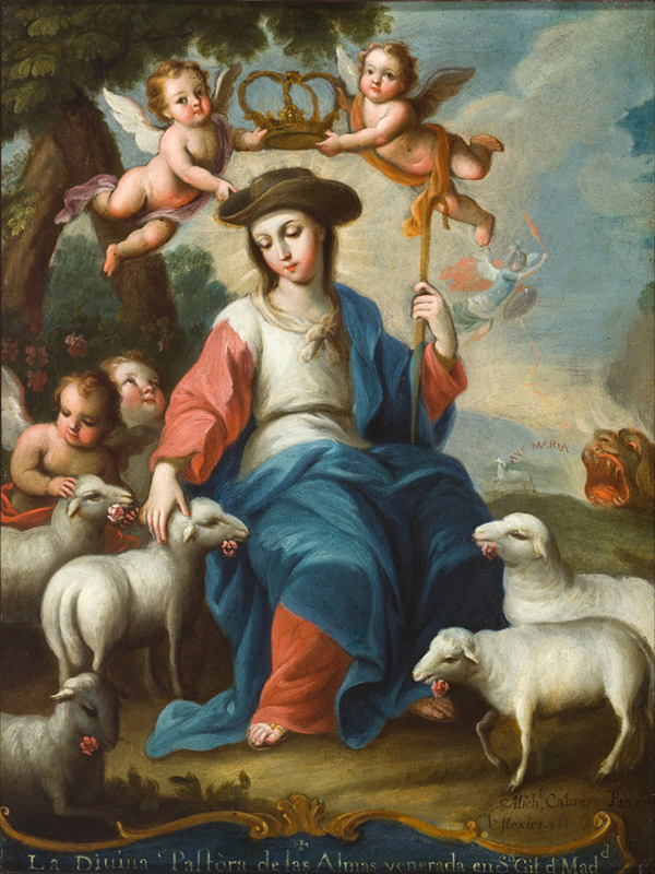free shipping classical religious figures angels crown sheep canvas prints oil painting on canvas wall art decoration picture