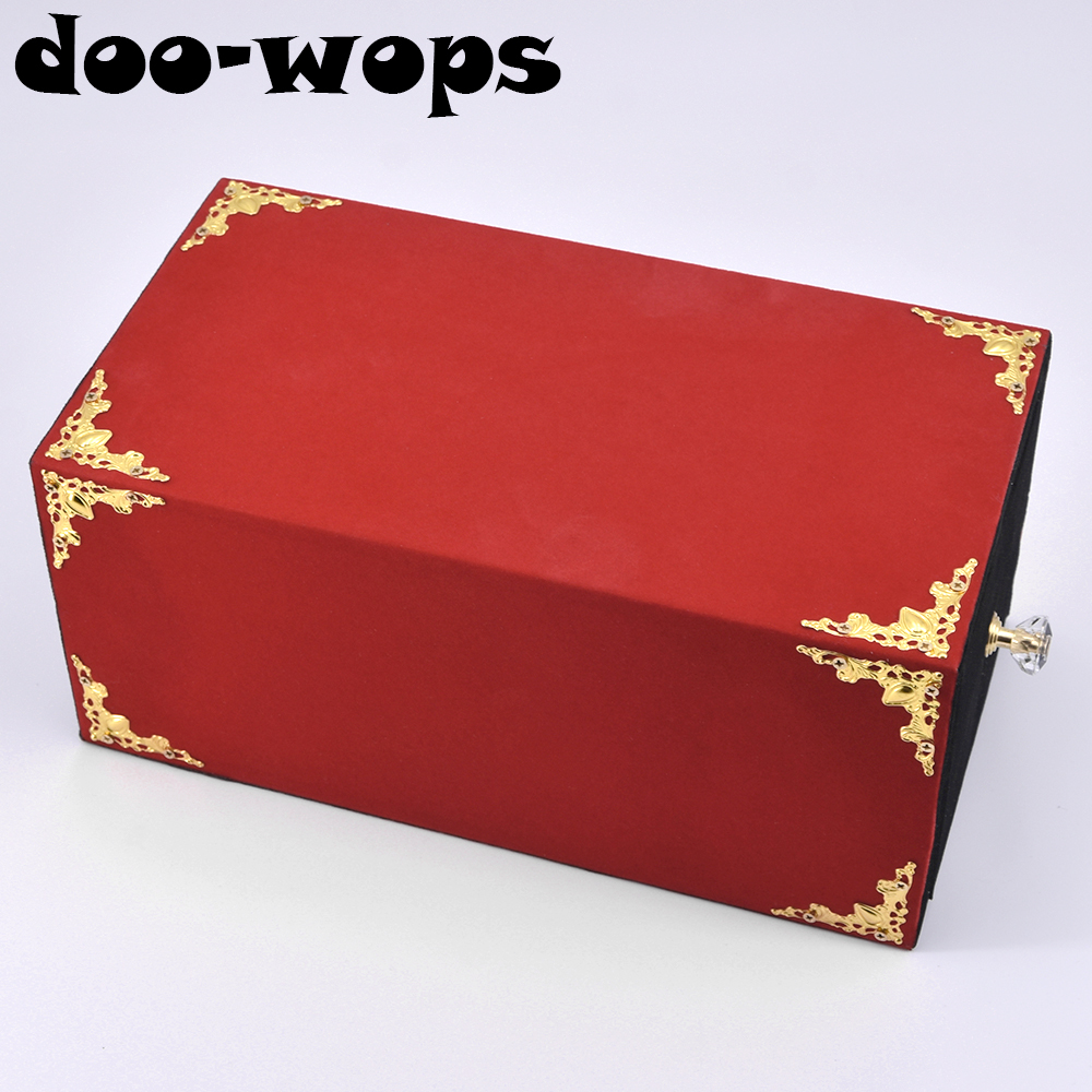 Wooden Drawer Box Magic Tricks Magician Stage Illusions Gimmick Props Accessories Comedy Objects Appearing Vanishing Magia blooming lotus remote control by j c magic magic tricks flower appearing magia magician stage party wedding prop comedy