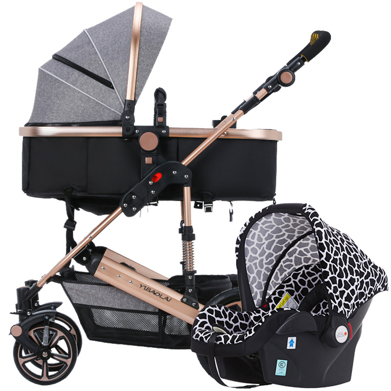 High Landscape Baby Stroller 3 in 1 Travel Baby Pushchair Sit and Lie Prams for Newborn bebek arabasi Baby Carriage poussette avoid the ultraviolet radiation with the canopy pushchair baby build a safe soft environment for babies boys and girls pushchair