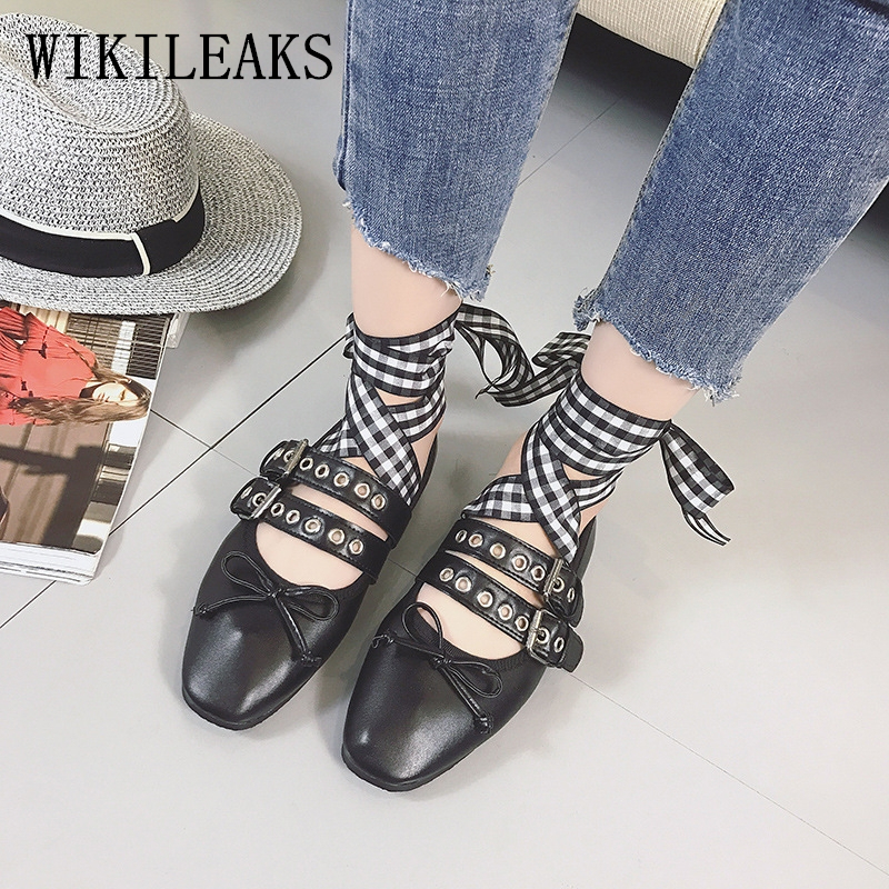 Pink black white ladies shoes ballet flat shoes woman zapatos mujer creepers Cross-tied ballerina flats leather shoes women 2017 2017 metal head women shoes genuine leather oxford shoes for women flats shoes woman moccasins ballet flats zapatos mujer z464