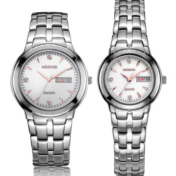 (MESHOR) fashion leisure steel quartz watches lovers