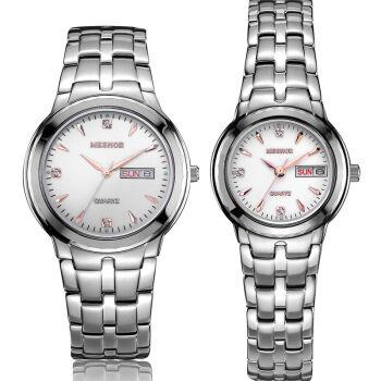 (MESHOR) fashion leisure steel quartz watches lovers watch MS.5001M.16.137 / MS.5001M.16.137