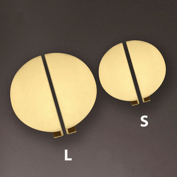 2 pieces set Round Solid Brass Handles Furniture