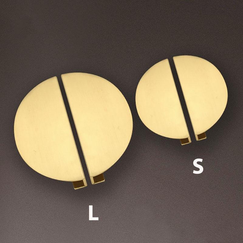 1 комплект, круглые латунные ручки для шкафов и ящиков