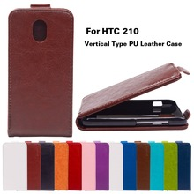 PU En Cuir Couvre Pour HTC 210 Cas Pour HTC Desire 210 double Sim 4.0 pouce Couvre Vertical Couverture de Téléphone shell Flip titulaire logement
