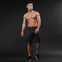 New Men Summer Beach Shorts Compression Shorts Men Quick Drying Summer Solid Polyester