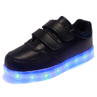 2016 Hot Selling Fashion LED Luminous Shoes Kids Brand Lamp Usb Charging Sneakers Student Glowing Shoes