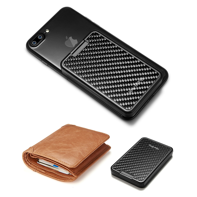 Sliding Card Holder Slim Carbon Fiber RFID Blocking Card Case