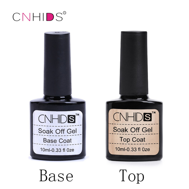 CNHIDS  Brand New Focallure Diamond Nail Gel Top Coat Top it off + Base Coat  Foundation for UV Gel Polish