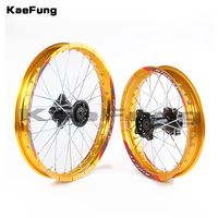 gold 12mm 15mm Front 1.40 14 inch Rear 1.85 12 inch aluminium Alloy Wheel Rim For 160cc 150CC Dirt Pit bike 12 14 inch wheel