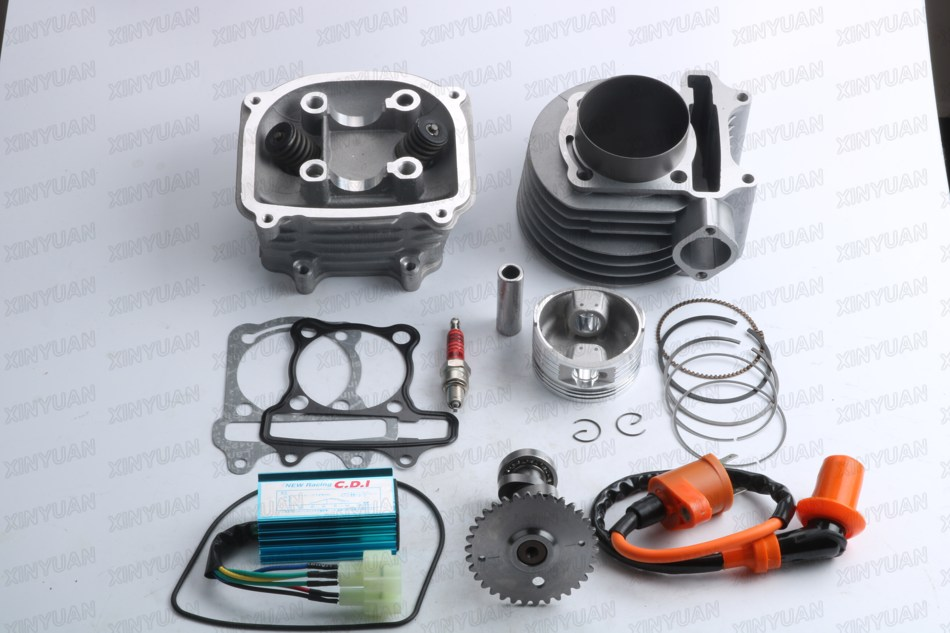 Scooter 157QMJ GY6 4T 150cc 57.4mm Engine Rebuild Kit Cylinder Kit Cylinder Head Chinese Scooter nibbi engine upgrade parts cylinder 58 5mm 6 2mm camshaft for gy6 scooter 150cc 125cc 152qmi 157qmj