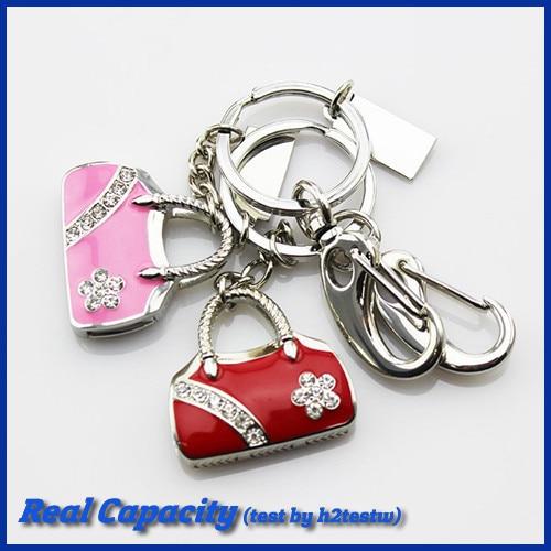 free shipping key chain usb pen drive 4gb 8gb 16gb 32gb pendrive luxury usb flash drive mini usb stick women bag