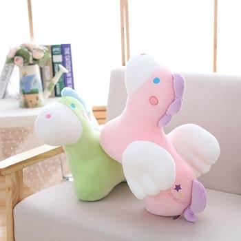 1pc 35/45cm 4 Patterns Cute Pegasus doll Unicorn plush stuffed toys Unicornio cushion Home pillow Soft fabric Xmas Gift For Kids stuffed toy