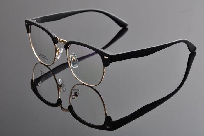 DEDING Винтаж очки с круглыми линзами в стиле унисекс очки ботаника очки в оправе вогнуто-Выпуклое стекло, de vue oculos de grau с чехлом ткань DD0883 - Цвет оправы: matt black gold